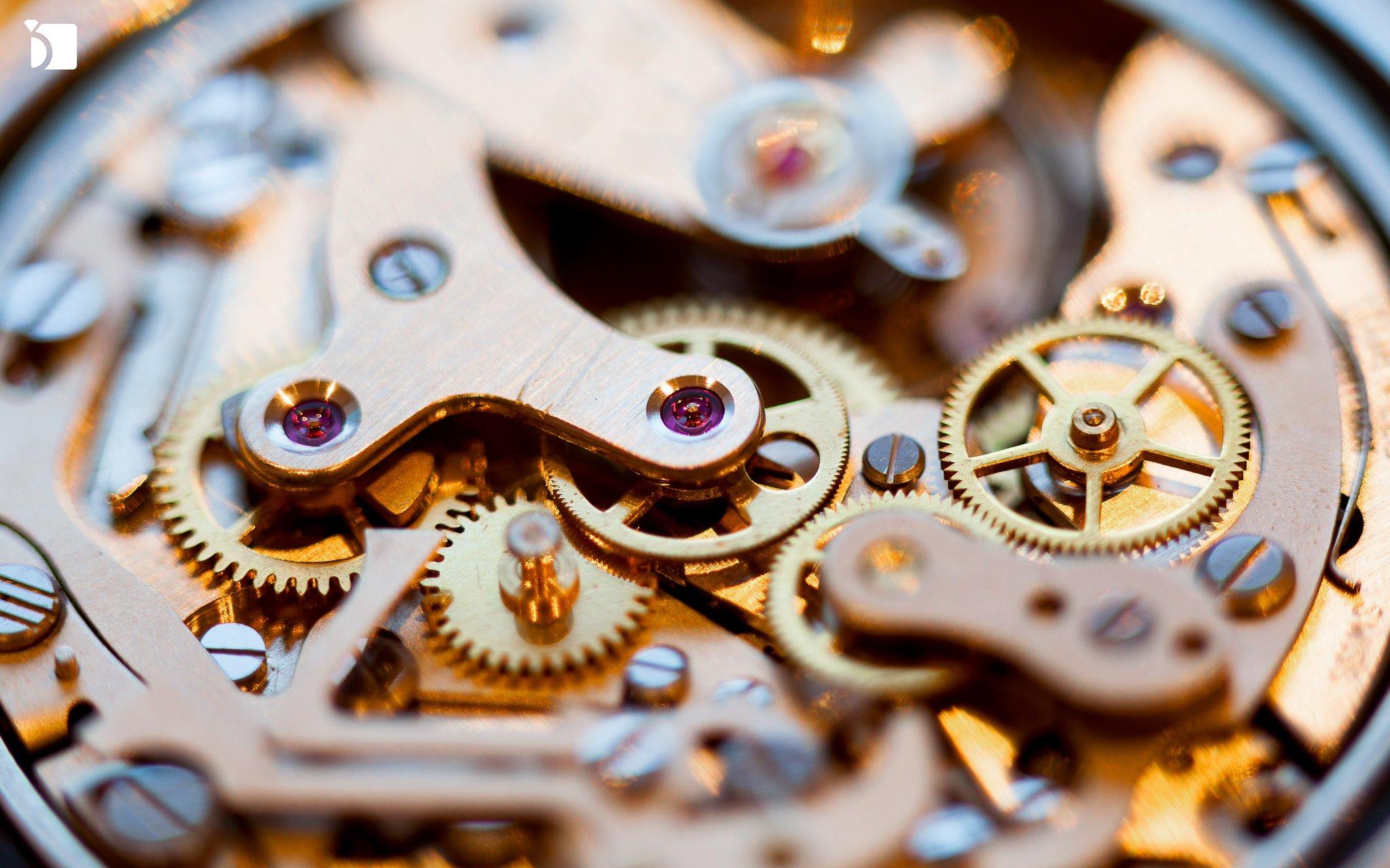 Image showcasing mechanical watch movement