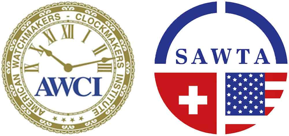 Image Showcasing SAWTA & AWCI Watch Repair Certifications